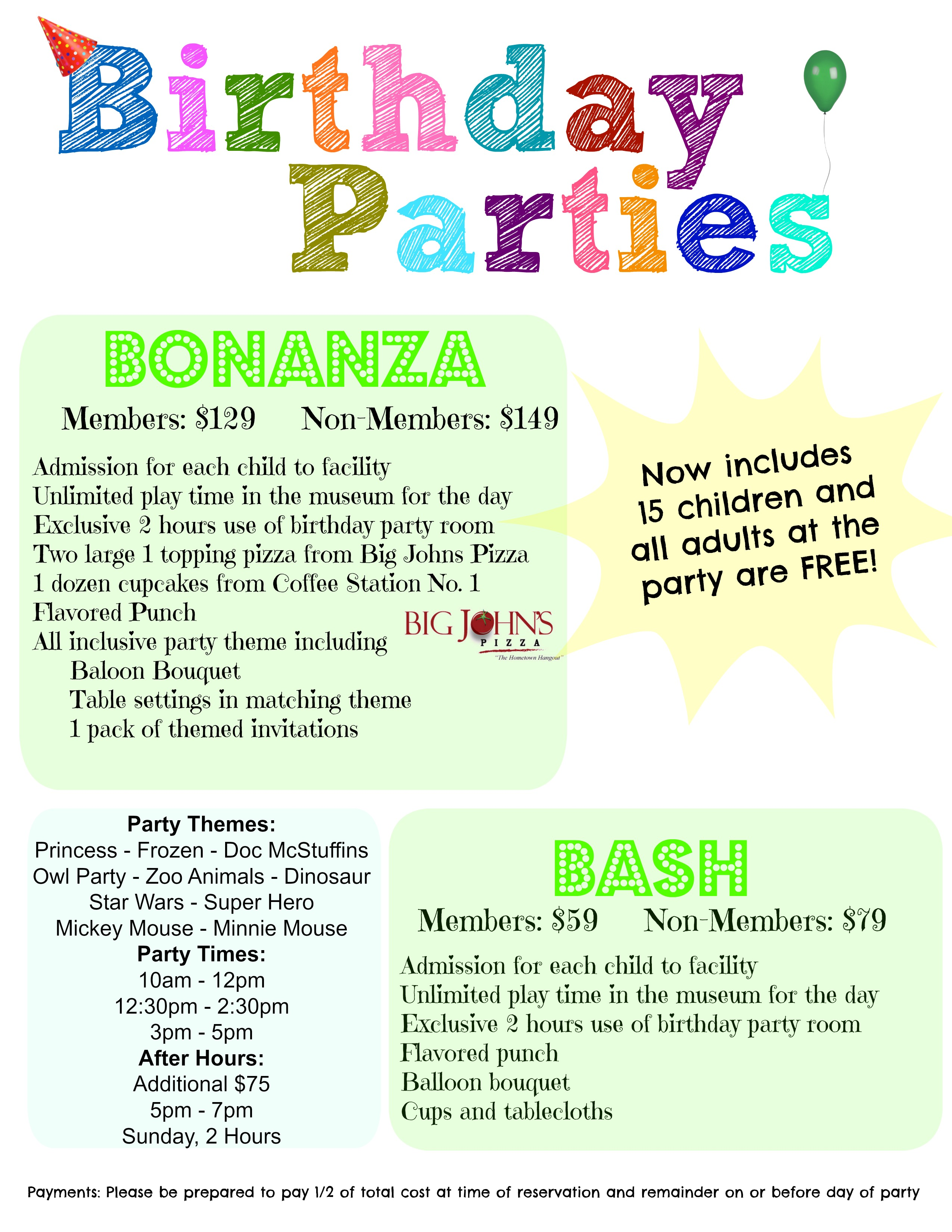 Birthday Party Info